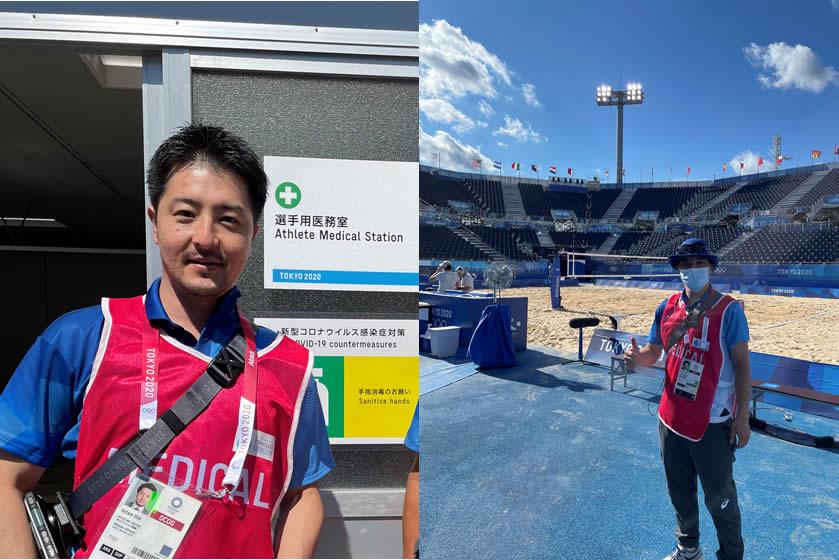 小田洸太郎先生が東京オリンピックにフィールドドクターとして参加しました。